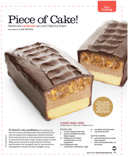 Dessert inspiration, from the March 2012 issue of Food Network Mag. Because everyone needs candy at the movies.